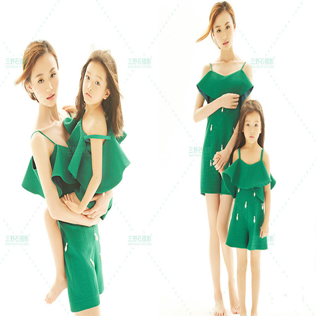 2016 Mother&Daughter Clothes Family Matching Outfits mother daughter fashion photography paternity suit family photography props