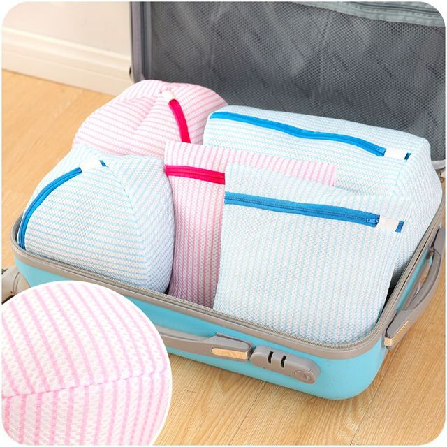 Storage Washing Bags Laundry Basket Bag Embroidered Bra Special Wash Padded Machine Washable Mesh