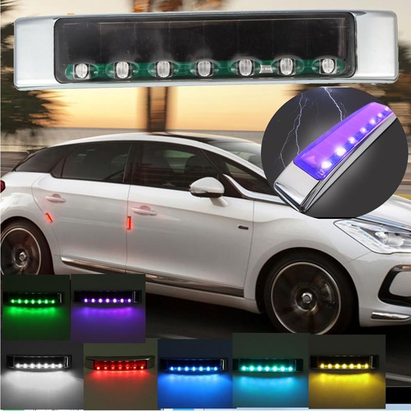 Wireless Light Car Solar LED Emergency Light Flashing Lights DC 12V Strobe Warning Light Colorful