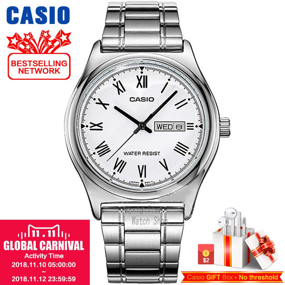 Casio watch Simple fashion watch waterproof leisure business male watch MTP-V006D-7B MTP-V006GL-9B MTP-V006D-1B MTP-V006L-1B casio watch fashion simple quartz watch mtp 1375l 1a mtp 1375l 7a mtp 1375d 7a mtp 1375d 7a2 mtp 1375l 9a mtp 1375sg 1a