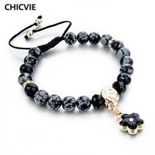 Женские и мужские браслеты chicvie браслет из натурального камня