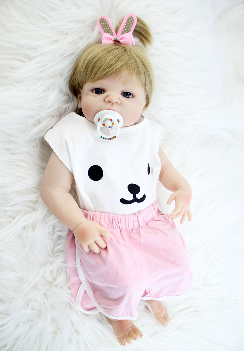 NPKCOLLECTION 22 полный силиконовые новорожденных игрушки куклы реалистичные возрождается принцессы Прекрасный Bebe жив Водонепроницаемый тела по...