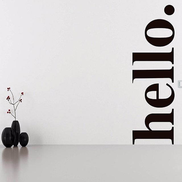 Hello Wall Decal Quotes   Hello Door Decal Welcome Wall Stickers   Hello  Wall Quote Stickers