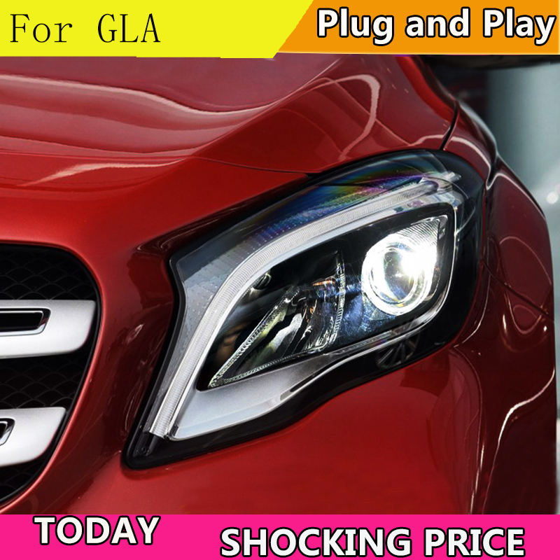 Car Styling Head Lamp For Benz GLA 200 220 260 2015 2016 2018 Headlights ALL LED