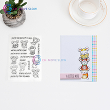 CH mouse Transparent Clear Silicone Stamp/Seal for DIY scrapbooking/photo album Decorative clear stamp sheets
