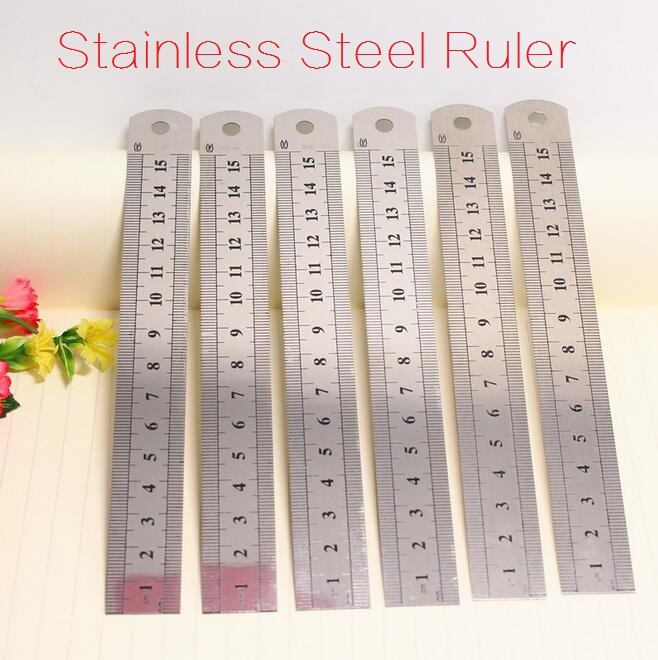 1pcs/lot NEW Stainless Steel Straight Ruler 15cm 20cm For Choose Advanced Tools Good Quality