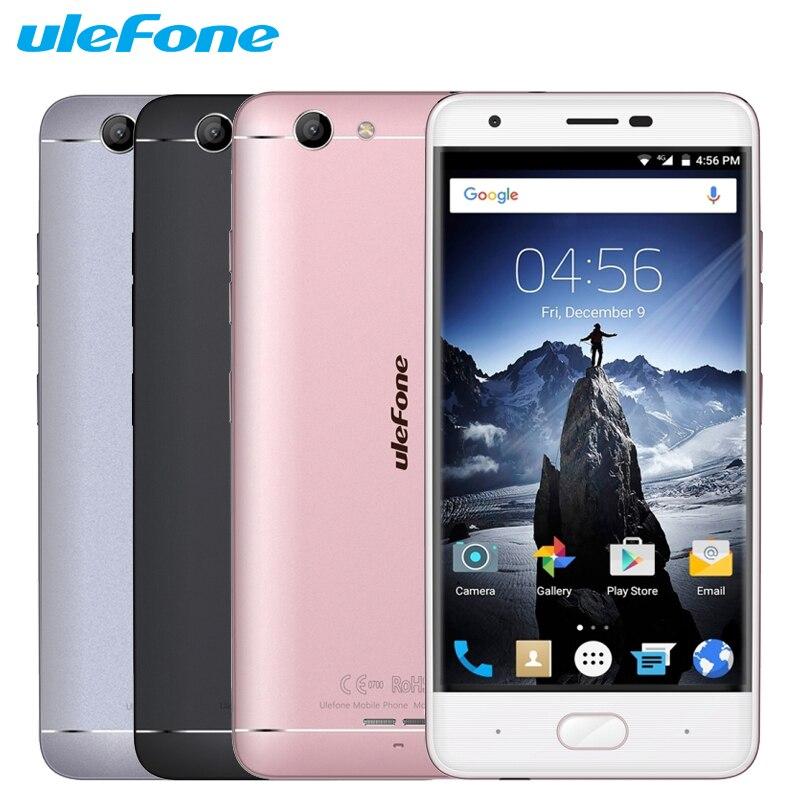 Оригинал Ulefone U008 Pro Сотовый Телефон 5.0 дюймов 2 Г RAM 16 Г ROM MTK6737 Quad Core Android 6.0 Камера 8.0MP 3500 мАч смартфон