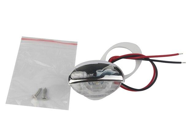 Luz LED blanca para escaleras de 12V, para vehículos RV, 1 unidad