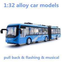 1:32 alloy car models,high simulation city bus models,toy vehicles,metal diecasts,pull back & flashing & musical,free shipping