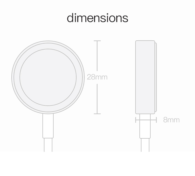 SIKAI Original Wireless Charger for Apple Watch Charger for i-Watch Series 1 2 3 38/42mm 1meter for Apple Watch 13
