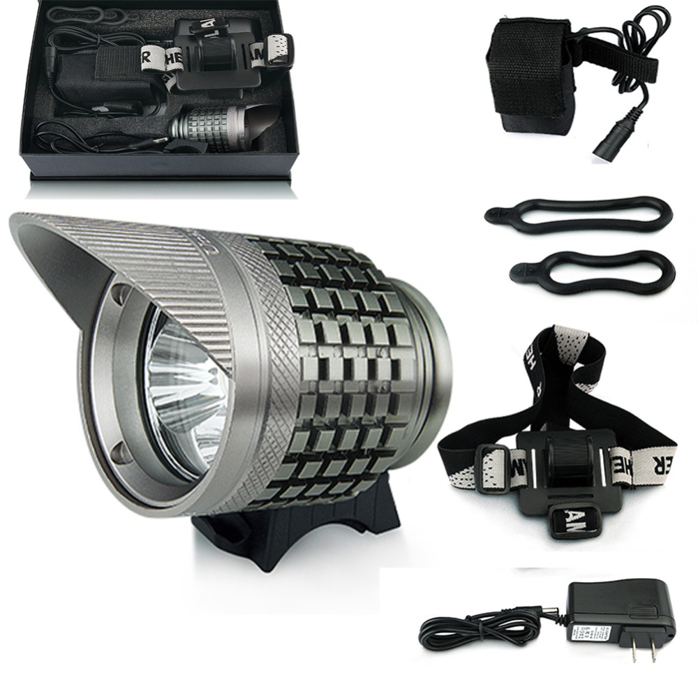 ФОТО Newest KIT SET Bicycle Front Headlight HD005  with 3*Cree U2 Led Bulb 3800LM Super Bright Mountainbike Light for Night Riding