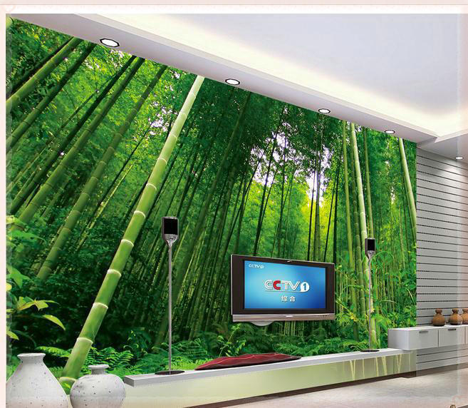 Buy new large wallpaper custom wallpaper for Bamboo mural wallpaper