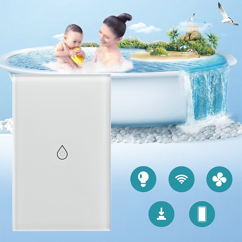 Image 5 - US Plug Smart Wifi Water Heater Switch Boiler Switches Alexa Google Home Voice Touch Panel Timer Outdoor 4G App Control-in Home Automation Modules from Consumer Electronics