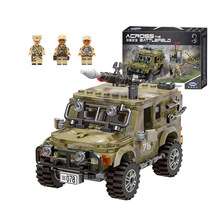 лучшая цена Xingbao Military war Jeep model building blocks army car figure bricks Compatible With  toys children boy gift