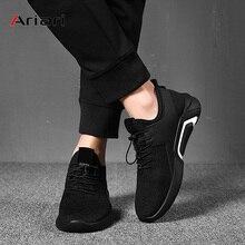 Ariari Для мужчин тапки мужской повседневная обувь Для мужчин плоской подошве прогулочная обувь для отдыха дышащая сетчатая подкладка тренер для Для мужчин обувь на шнуровке