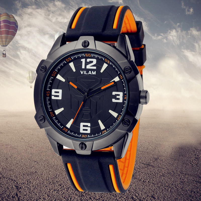 Mens Watches Top Brand Luxury Military Man Clock Fashion Quartz men Wrist watch Rubber Strap Boys Male Outdoor Sport Watch 11296 oubaoer fashion top brand luxury men s watches men casual military business clock male clocks sport mechanical wrist watch men