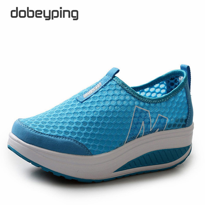Neue Sommer Schuhe Frauen Atmungsaktive Air Mesh Frau Müßiggänger - Damenschuhe - Foto 2