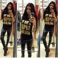 Новые 2016 Письма ВЫ ГОВОРИТЕ Отпечатано Рукавов Жилет Harajuku Случайные kawaii camisetas mujer femme футболка maglia донна