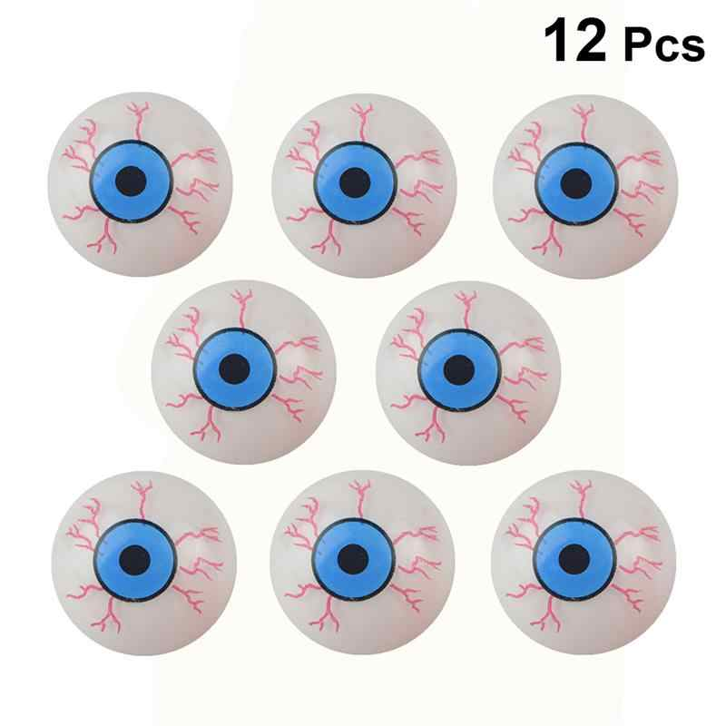 12 Pcs Horror Eye Balls Halloween Party Horror Bloody Fake Eyeballs Simulation Eyeballs Halloween Dancing Party Prop