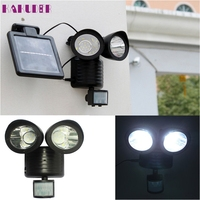 High Quality Dual Security Detector Solar Spot Light Motion Sensor Outdoor 22 LED Floodlight