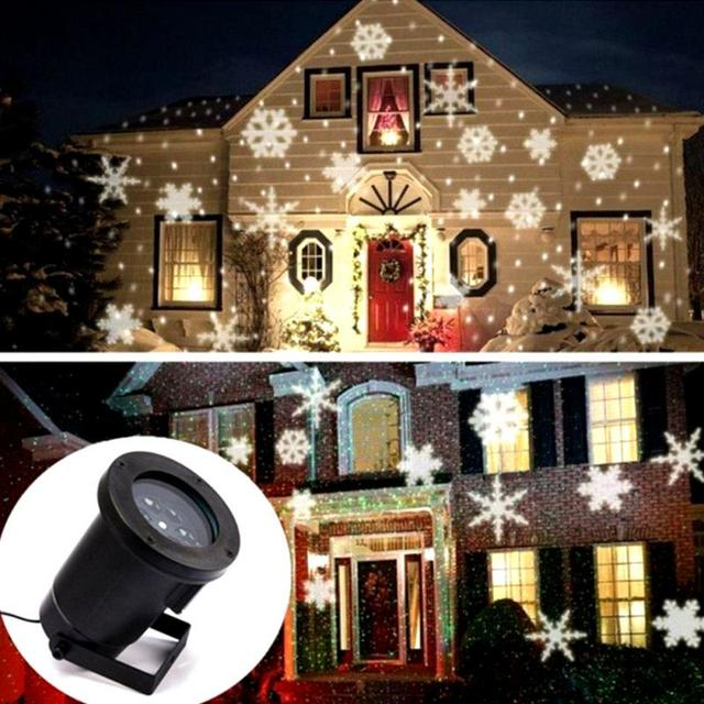 led snowflake lights outdoor christmas light projector garden waterproof holiday xmas tree decoration landscape lighting
