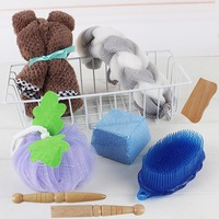 6Pcs Bath Utensil Set Bath Towel Bath Brush Foot Bush Bath Ball Bath Bush Strip Massage