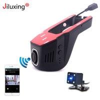 Jiluxing 1080P mini WIFI Car DVR two cameras Dash Cam Video Recorder car cameras Dvr App Control Upgraded chip LT8724 Loop video