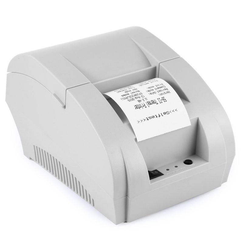 ZJ 58mm 5890K Thermal Printer Ticket Thermal Receipt Printer USB Interface Restaurant Bi ...