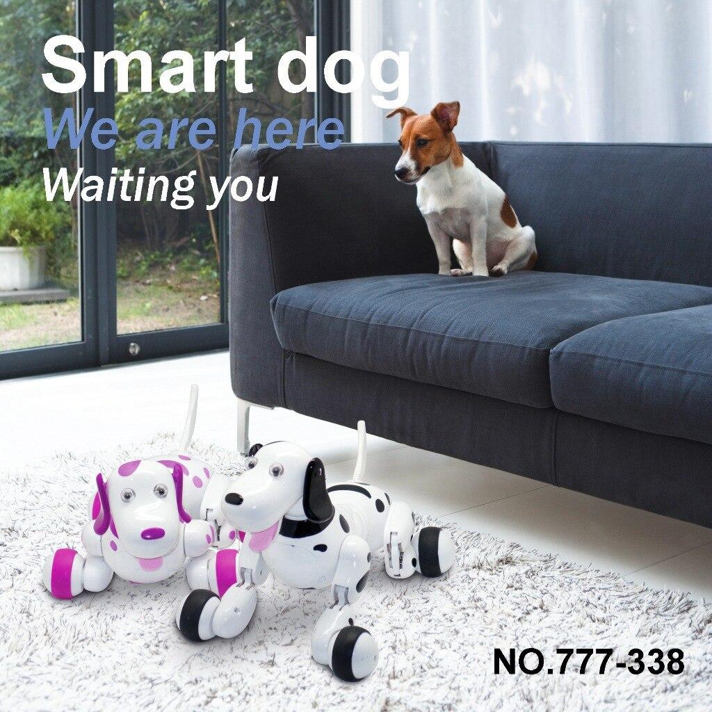 Robot chien télécommande Smart chiot 2.4G sans fil électronique Animal de compagnie jouets éducatifs pour le cadeau d'anniversaire des enfants - 2