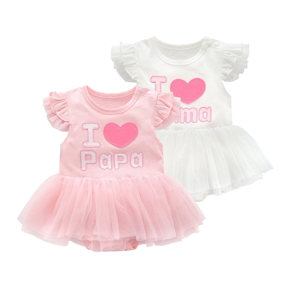 Ruffles Summer Newborn Baby Girl Dress Birthday Party Cute Embroidery Princess Dressese Cotton Kids Girls Clothing