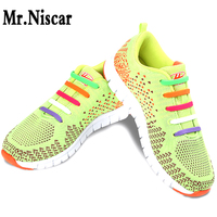 Mr Niscar 1Set 16Pcs Hot Sell Women Men No Tie Shoelaces All Sneakers Applicable Shoelace Elastic
