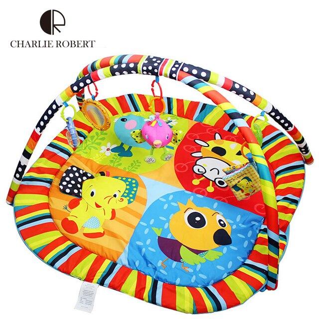 Высокое качество детские игрушки дети играют мат Tapete Infantil красочный мультфильм животных , ползающих игру коврик деятельности тренажерный зал 0 - 3 год HK886