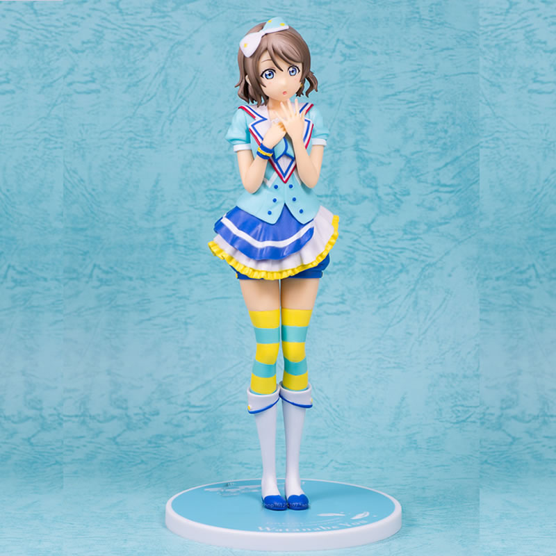 22cm Cute anime figures Love Live sunshine Watanabe YouWatanabe You PVC Action Figure Collection Model for boys toy gift one piese action figure 28cm dracula mihawk arrogant expression model pvc figures collection toy for children