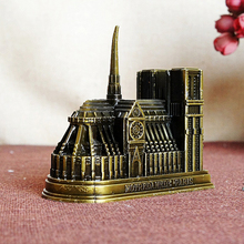 Vintage Metal Cathedrale Notre Dame de Paris Model Building Figurine Home Desktop Office Decor Gift