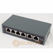 DSLRKIT 250M 6 porte 4 PoE Switch iniettore Power Over Ethernet nessun adattatore di alimentazione