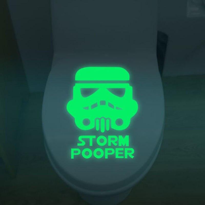 1 Pz Vendita Calda Di Star Wars Igienici Sticker Giocattolo Luminoso Bagno Camera Da Letto Sticker Glow In The Dark Giocattoli In Molti Stili