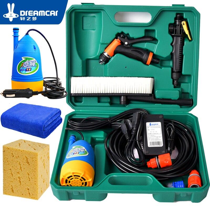 Lavadora de alta Pressão da Lavagem Do Carro 12 v Máquina de Lavar Carro Portátil máquina de Lavar Carro Ferramentas de Carro Bomba de Água Dispositivo de Lavagem Doméstica arma