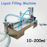 1 Pcs 10 200ML Semi Automatic Pneumatic Liquid Filling Machine Filling Shampoo Perfume SS304 Beverage Packer