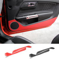 MOPAI Car Interior Decoration Carbon Fiber Door Anti Kick Sticker Protection Fit For Ford Mustang 2015 Up Car Styling