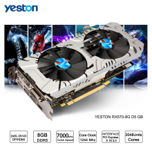 Yeston Radeon RX 570 GPU 8GB GDDR5 256 bit Gaming Desktop computer PC Video Graphics Cards support DVI/HDMI PCI-E X16 3.0