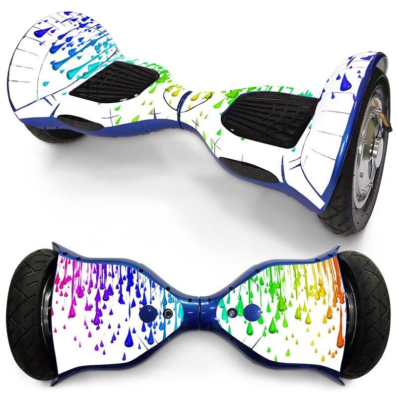 Prix pour 10 Pouces 2 Roues Auto Équilibrage Scooter Électrique Hoverboard Wrap Couverture Autocollant Protecter Mini Hover Coloré Décoration Papier