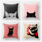 Pink cute Animal cat Pillow cushion cover decorative THROW PILLOW for office Home Decor pillow sofa cushions