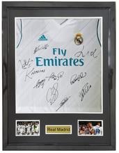 2e4cb727e5a Real Madrid whole team signed autographed soccer shirt jersey come with Sa coa  framed 17-
