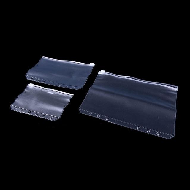 PVC Fermeture Clair Sac De Cartes Visite Notes Poche Rangement Transparent Pour