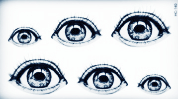 See Six Big Clear Eyes Body Tattoo Art Beauty Makeup Waterproof Temporary Tattoo Stickers