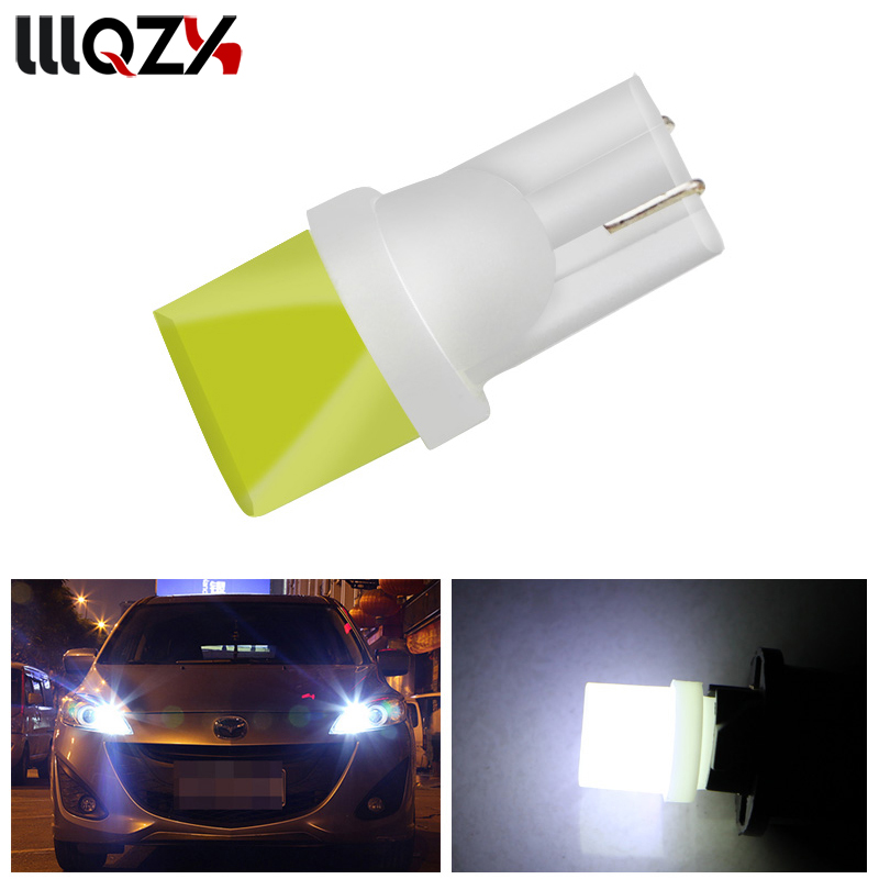 1PCS T10 3D COB 1 SMD LED Light W5W 194 192 168 501 Clearance Lights Auto Car Instrument Bulbs License Plate Light White nao 6pcs t10 led w5w car bulbs 168 194 turn signal auto clearance lights 12v license plate light trunk lamp cob white 3030 smd
