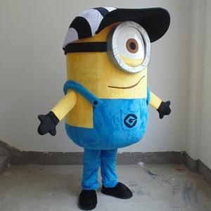 Image 5 - Costume Cosplay della mascotte di Minion per labbigliamento della bambola della soia dellindumento del fumetto degli adulti