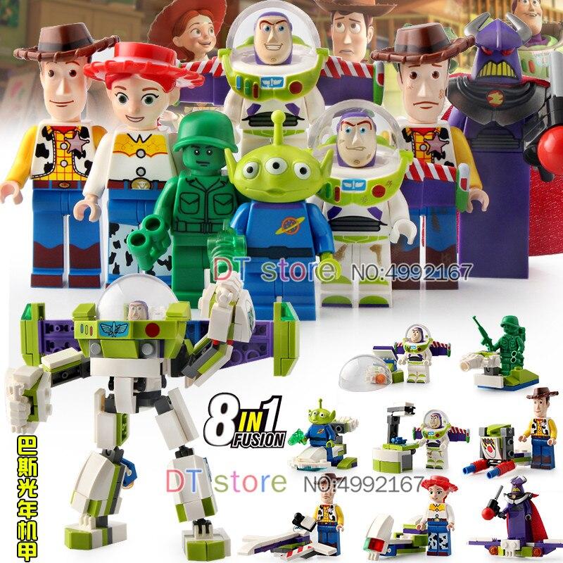 80 pièces Toy Story 4 Figure Figurines Woody Buzz Lightyear Brique Bloc Étrangers Bloc De Construction Jessie Collection Jouets SY6699