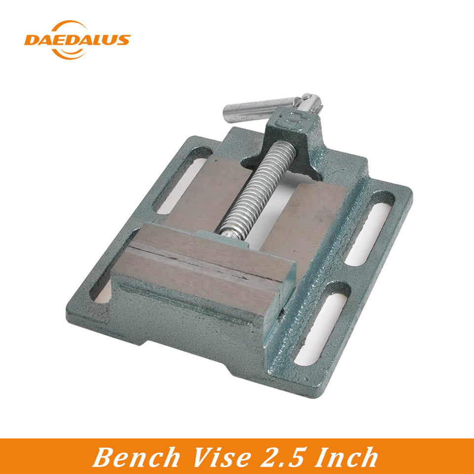 Daedalus 2.5 Inch Bench Vise Drilling Clamp Machine Vise Tool Milling Machine Workbench Tool Accesoories for DIY Jewelries Craft