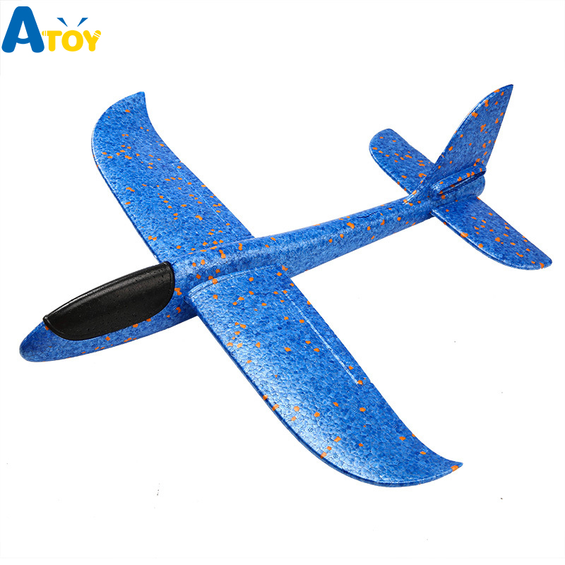 48cm Big Good quality Hand Launch Throwing Glider <font><b>Aircraft</b></font> Inertial Foam EPP Airplane Toy Children Plane <font><b>Model</b></font> Outdoor Fun Toys image